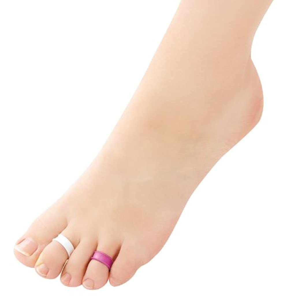 閉じ込める応じる好意的足指リング デオリフレ ピンク&白