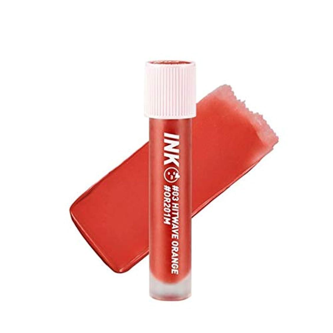 ペルソナ問題海洋ペリペラインクマトゥブラーティントリップティント韓国コスメ、Peripera Ink Matte Blur Tint Lip Tint Korean Cosmetics [並行輸入品] (#03 Hitwave Orange)