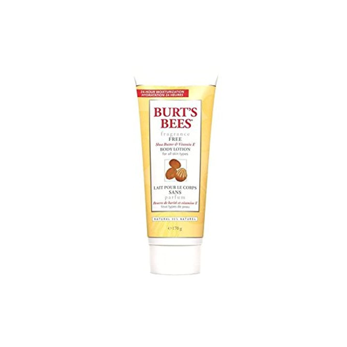 ペダル適度な全能Burt's Bees Body Lotion - Fragrance Free 6fl oz (Pack of 6) - バーツビーボディローション - 無香料6オンス x6 [並行輸入品]