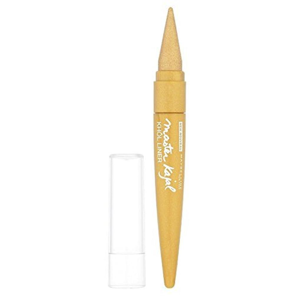 フィクション相互バランスのとれたMaybelline Master Kajal Liner - 13 g, Oriental Gold by Maybelline