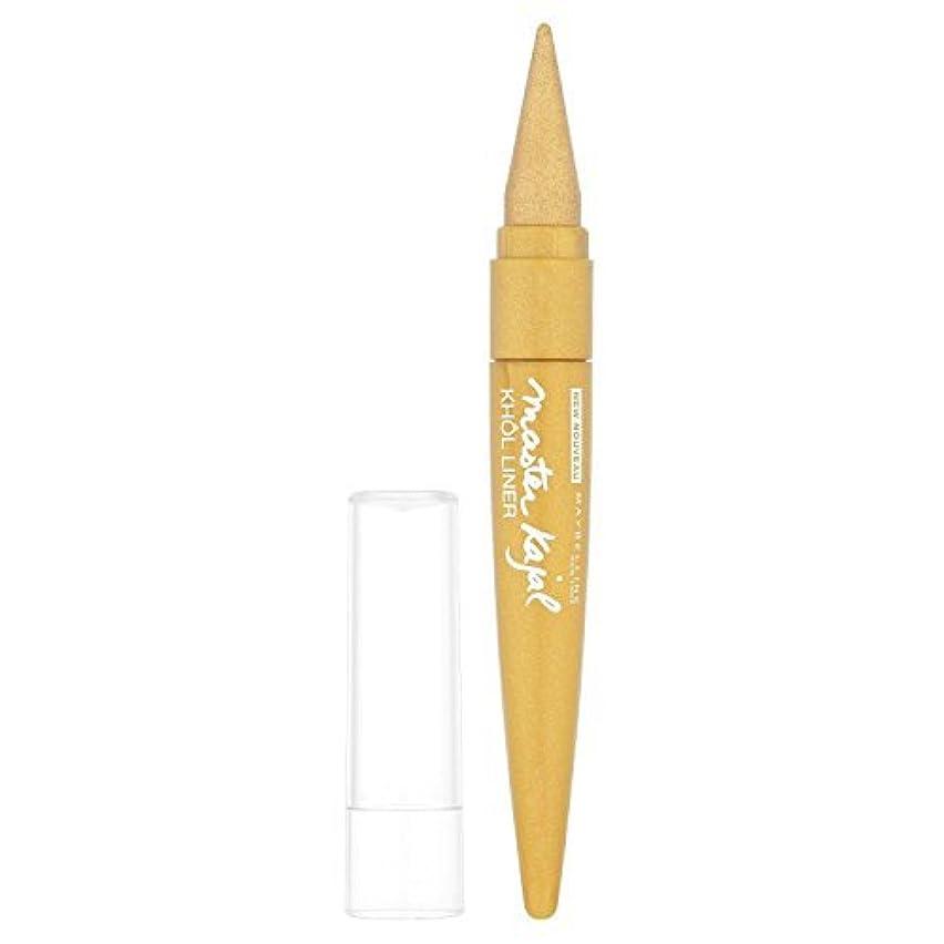 市の花唯物論レギュラーMaybelline Master Kajal Liner - 13 g, Oriental Gold by Maybelline