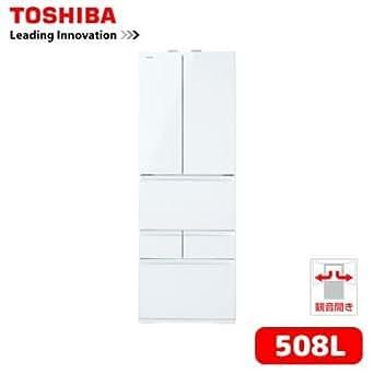 東芝 508L 6ドア冷蔵庫(クリアシェルホワイト)TOSHIBA マジック大容量 GR-H510FV-ZW