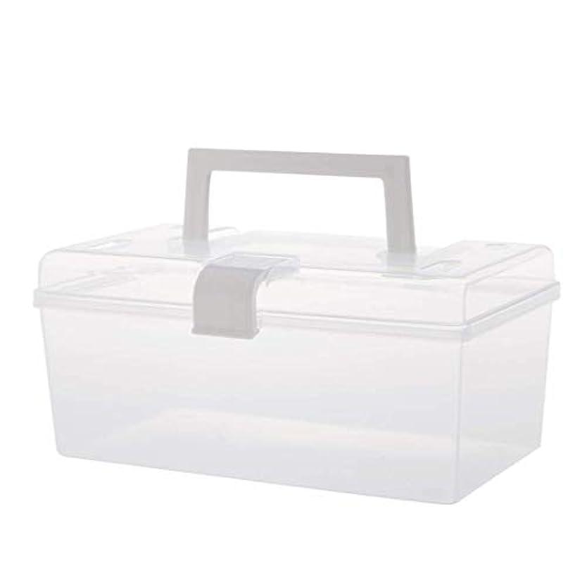 追い払う人間キウイJJJJD 医療用コンテナ救急箱収納ボックス二重層収納箱救急箱ホームボックス