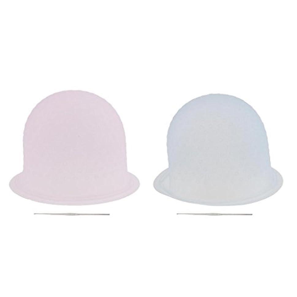 ハントサイレント誤解を招くToygogo 2組の金属のホックが付いている染料の毛の着色の曇らしている帽子の帽子を強調する専門の再使用可能な大広間