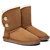 Australian Shepherd UGG Boots Metal Turn Button with Crystal Short Layton,Diamond Boots #15561