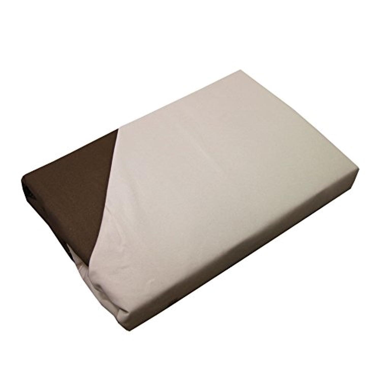 リバーシブル 敷き布団カバー シングルロング ブラウン&ベージュ 369632-0027