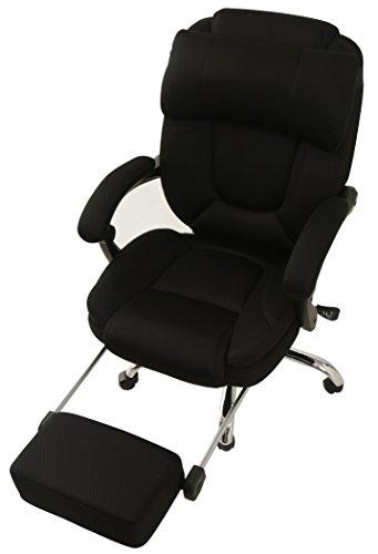 オフィスチェア 170度リクライニング メッシュ ブラック