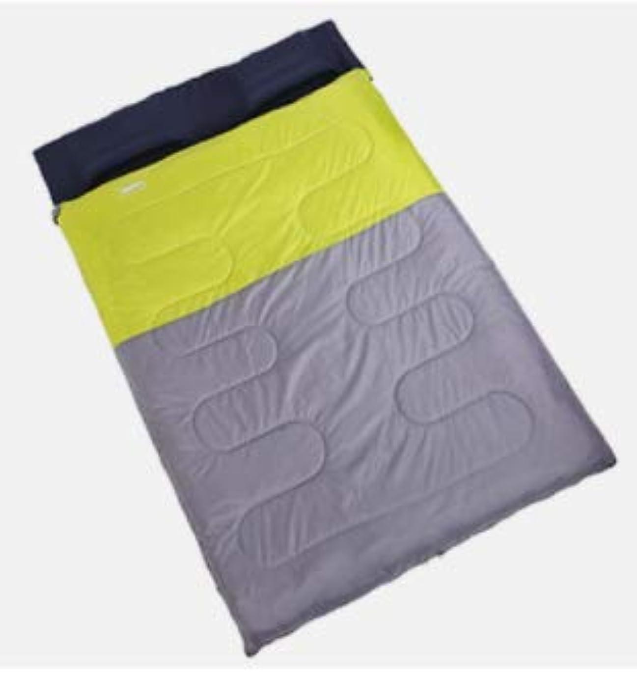 軽蔑する不適切なゆるいLishangl アウトドア寝袋ダブル春と秋冬肥厚キャンプランチ寝袋取り外し可能 (Color : グリーン)