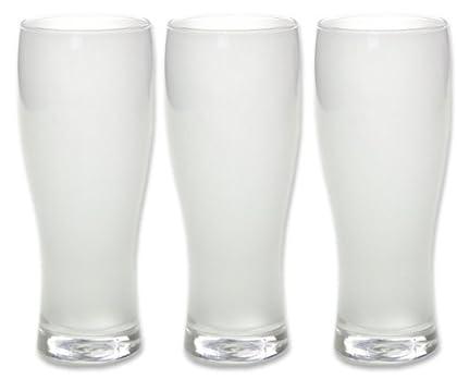 ビールグラス 泡立ちビヤーグラス 370ml×3個セット 食洗機対応