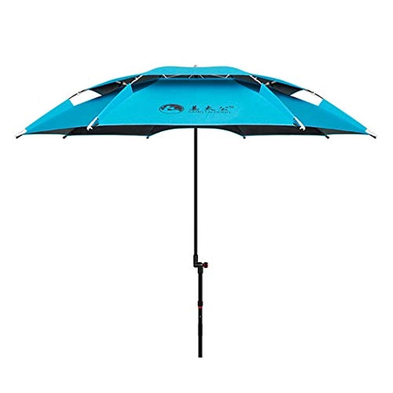 センサー支配的驚かす太陽傘アルミ合金黒ガム布日焼け止め雨折りたたみ傘屋外サンシェード傘 (Size : H2.15m)