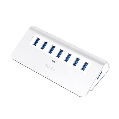 AUKEY USB3.0 ハブ 7ポート セルフパワー アルミ製 USB1.1/2.0互換 【2年間保証】 CB-H4