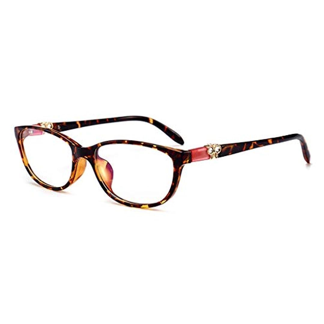 LCSHAN TR90 HD老眼鏡スマートズームファッション超軽量遠近両用デュアルライトアンチブルーライト (Color : Brown, Size : 100 degrees)