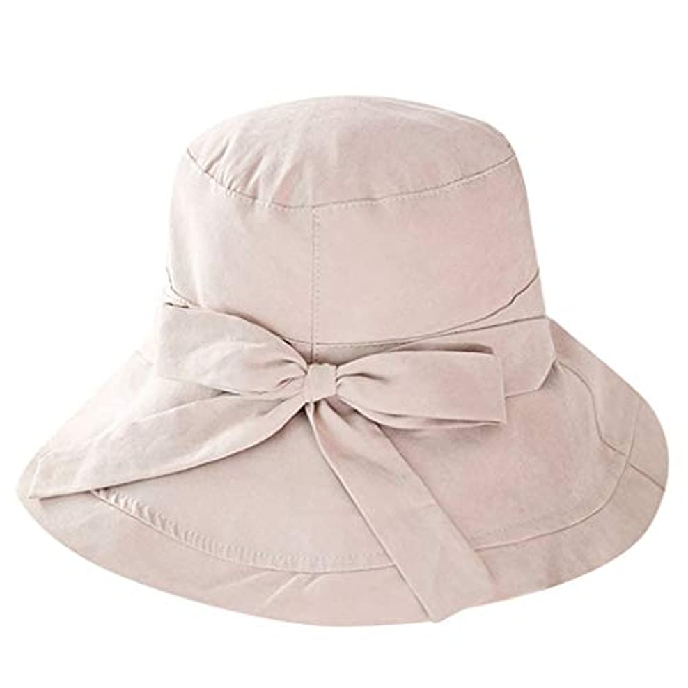 Kaiweini レディース夏漁夫帽カジュアル日よけバイザービッグエッジクロスキャップ人気の屋外折りたたみビーチキャップチャイルドハット日焼け止め太陽帽
