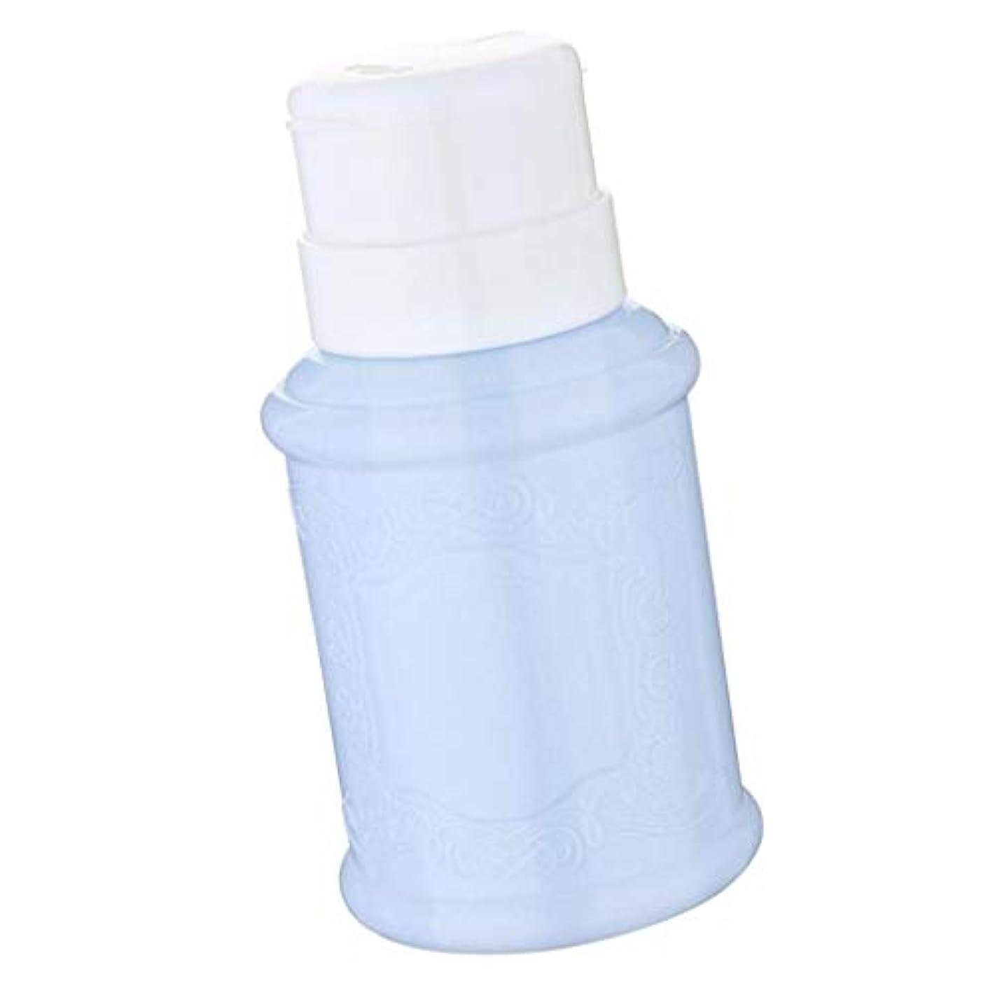 公使館宿る液化するToygogo 空のマニキュアリムーバーポンプディスペンサーアセトンプッシュダウンプレスボトル - 青