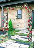 日本製 スライドフラワーアーチ幅広 バラアーチ 薔薇アーチ 高さ210cm 植木鉢 鉢 バラ ばら 薔薇 園芸 庭 ガーデニング