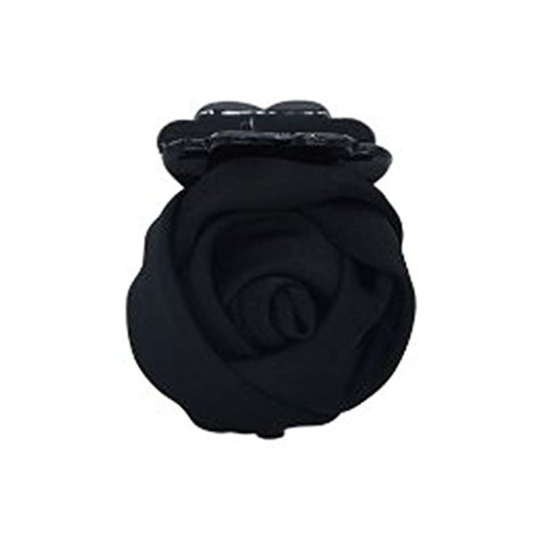 【ノーブランド 品】シック 手作り 花 バナナ 髪留め 爪ピン ヘアクリップ ブラック