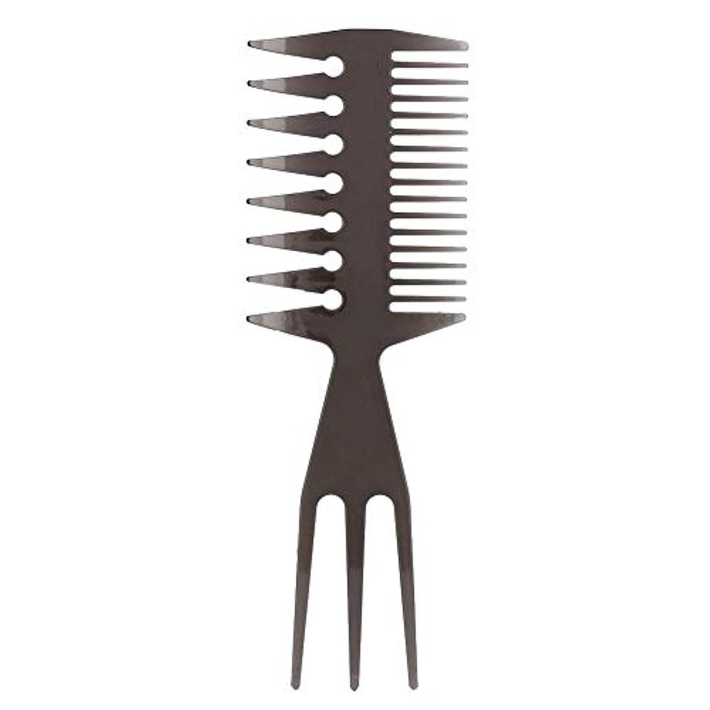 八百屋好戦的などこにも理髪櫛、ポータブルオイルヘッド髪型櫛広い大きな歯ロングハンドル髪型櫛用男性サロン家庭用ツール(2#)