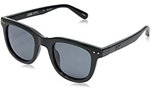 Local Supply Men's ISLAND Polarized Sunglasses - Dark Grey Tint Lens, Gloss Black Frames