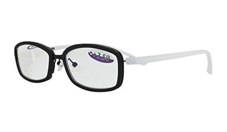 沿ってクラッチ共感する老眼鏡 シニアグラス NEO CLASSICS UNION GLR-44-2 +1.0 ブラック&ホワイト