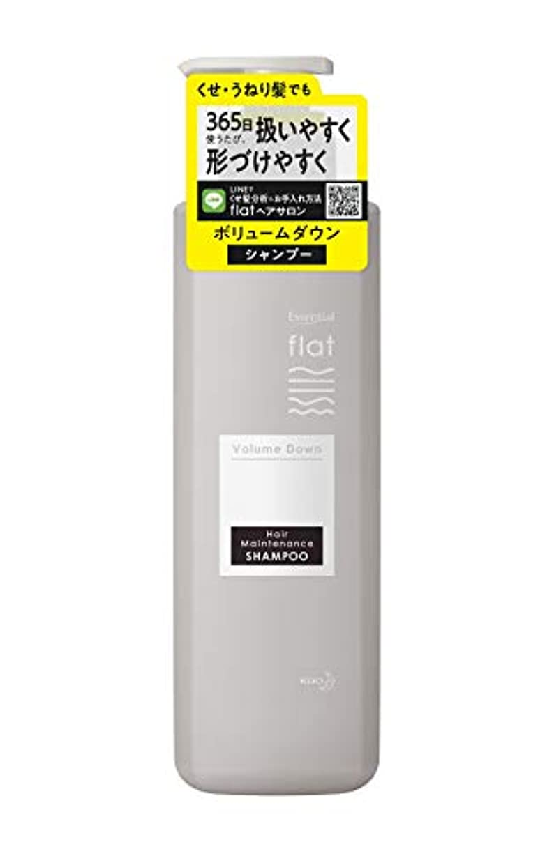 休暇アクセスの間にflat(フラット) エッセンシャル フラット ボリュームダウン シャンプー くせ毛 うねり髪 毛先 広がりにくい ストレートヘア ゴワつき除去成分配合(洗浄成分) ボトル 500ml