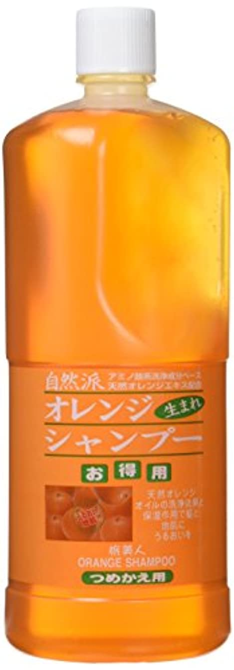不規則性ベギン保持するオレンジシャンプーお得用1000ml