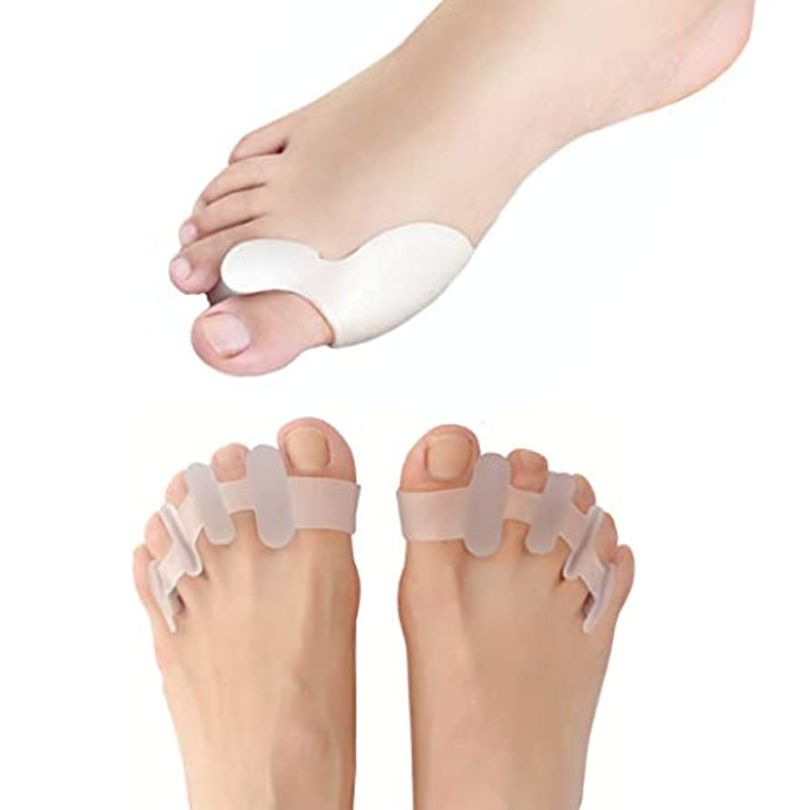 外反母趾 対策 痛み防止 矯正 シリコンパッド 2種類セット