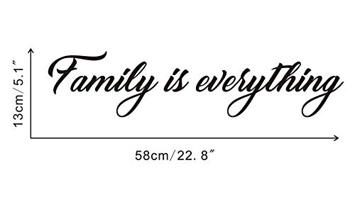 Family is Everything Wall Decal Mirror Sticker Motivational Lettering Vinyl Wall Sticker Living Room Quotes Wall Decal Home Wall Decorations,Black