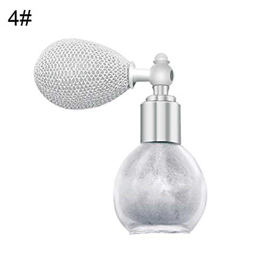 怒ってレインコートエンジニアリングFANA女性美容エアバッグスプレーフレグランスグリッターハイライトパウダー化粧品 - 4#