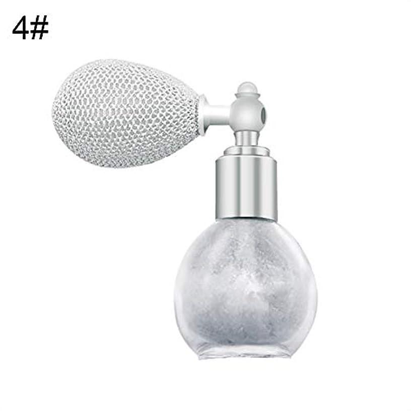 製油所息を切らしてホイールFANA女性美容エアバッグスプレーフレグランスグリッターハイライトパウダー化粧品 - 4#
