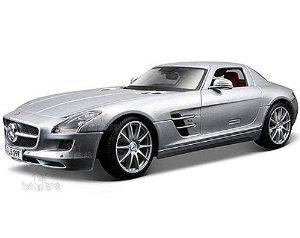 Maisto (マイスト) Premiere - Mercedes (メルセデス・ベンツ) Benz SLS AMG Hard Top (1:18, Silver) ミニカー ダイキャスト 車 自動車 ミニチュア 模型 (並行輸入)
