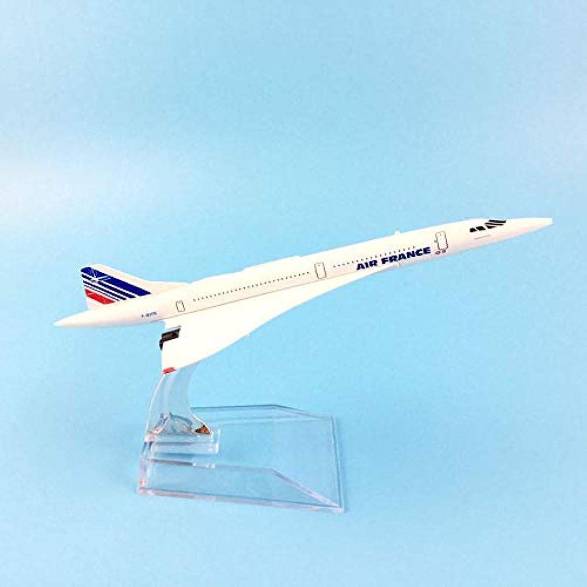 無法者騒ぎ気を散らす16cmエアフランスコンコルドモデルダイキャスト金属飛行機1:400飛行機のおもちゃ