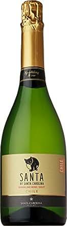 【チリの名門ワイナリーが作る、リッチな味わいのテーブルワイン】チリワイン サンタ バイ サンタ カロリーナ スパークリング ブリュット 750ml