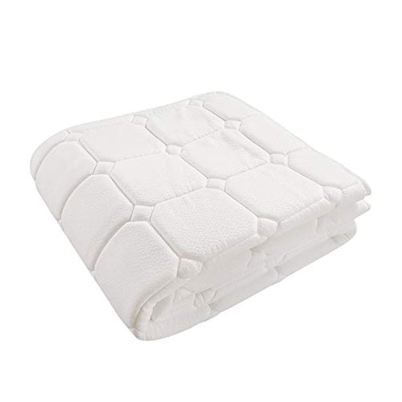 Kinga 敷きパッド 厚めタイプ ベッドパッド シングル 抗菌/防臭/防ダニ ふわふわ しっとりした肌触り 丸洗いOK 100x200cm アイボリー