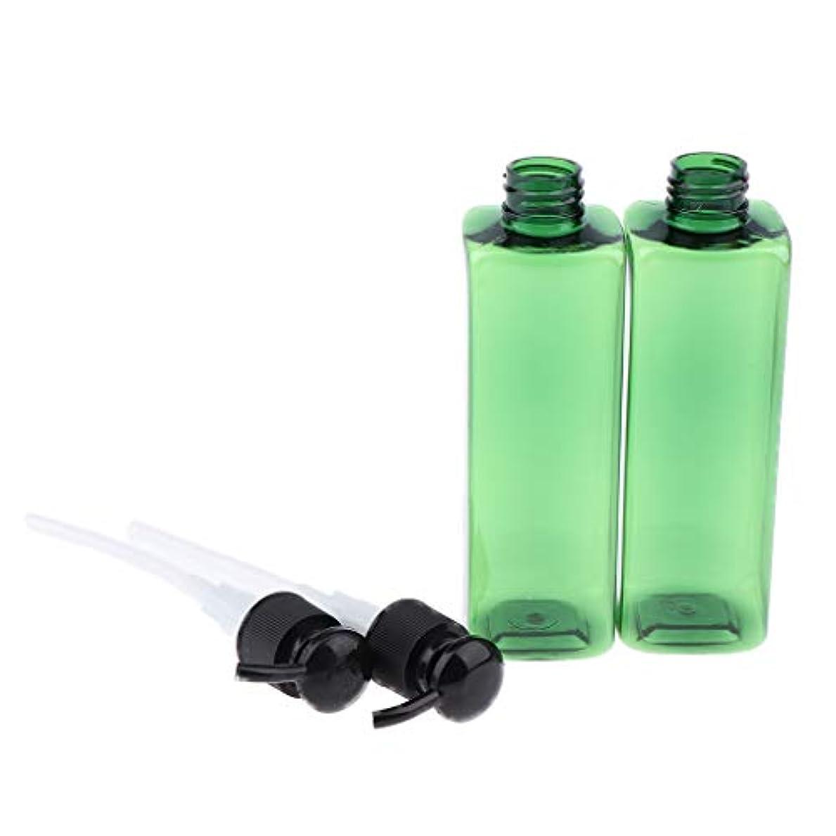 高揚したわずかに塩辛い250ミリリットル ポンプボトル プラスチック 旅行 ローション 詰め替え可能な ボトル - ブラック