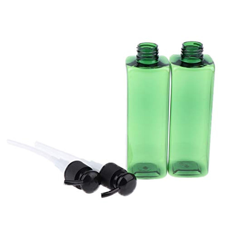 批評フロー自分250ミリリットル ポンプボトル プラスチック 旅行 ローション 詰め替え可能な ボトル - ブラック