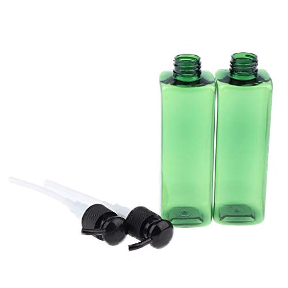 塊大人魅惑的な250ミリリットル ポンプボトル プラスチック 旅行 ローション 詰め替え可能な ボトル - ブラック