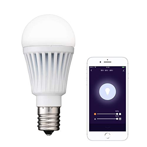【+Style ORIGINAL】スマートLED電球 E17 (調光・調色) LED電球 40W 440lm スマート 調光 調色 E17 ハブ、ブリッジ不要 日本メーカー製 Amazon Alexa/Google Home 対応
