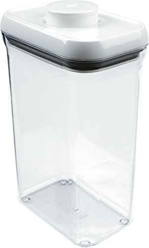 OXO 保存容器 密閉 プラスチック 2.3L ポップコンテナ レクタングル ミディアム 1071397