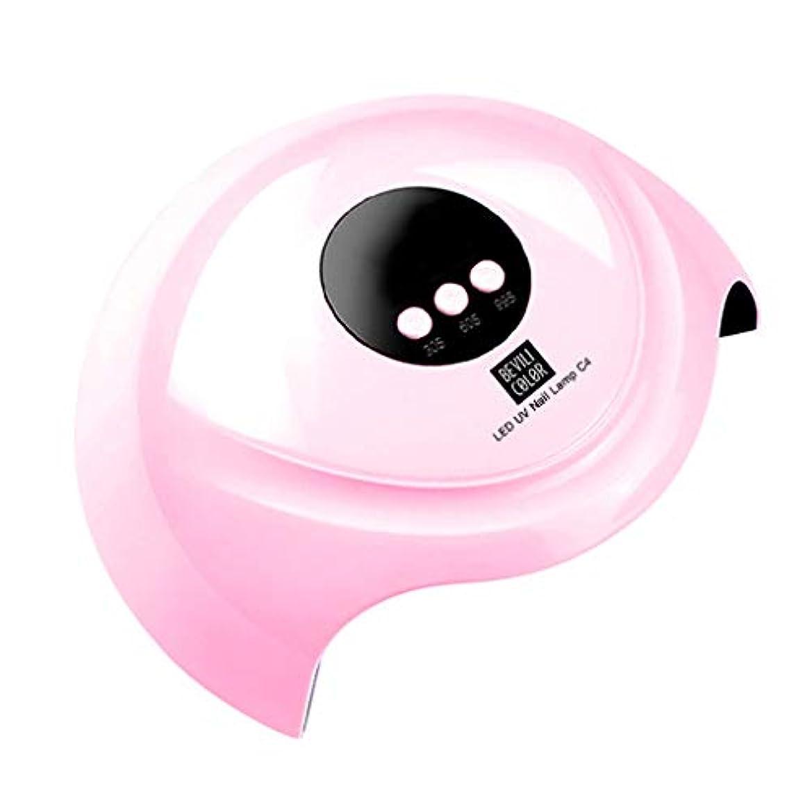 シュリンクドラマ脇にネイルジェル硬化機USBランプライトネイルジェルポリッシュドライヤー(誘導なし) (ピンク)