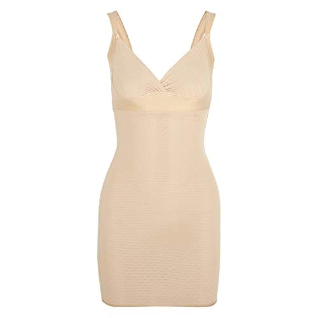 再現する展開する静かに女性のポスト産後Post身下着シェイパードレスを回復ボディスーツシェイプウェアウエストコルセットガードル-アプリコット-XL