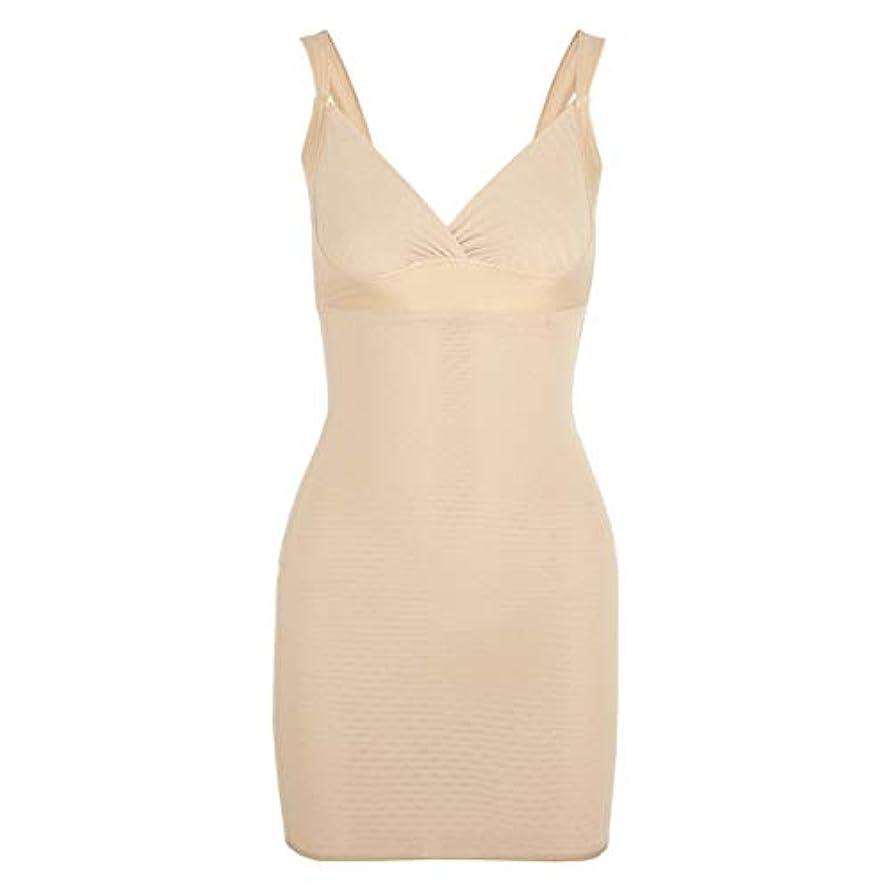 ナット電化する申し立てる女性のポスト産後Post身下着シェイパードレスを回復ボディスーツシェイプウェアウエストコルセットガードル-アプリコット-XL