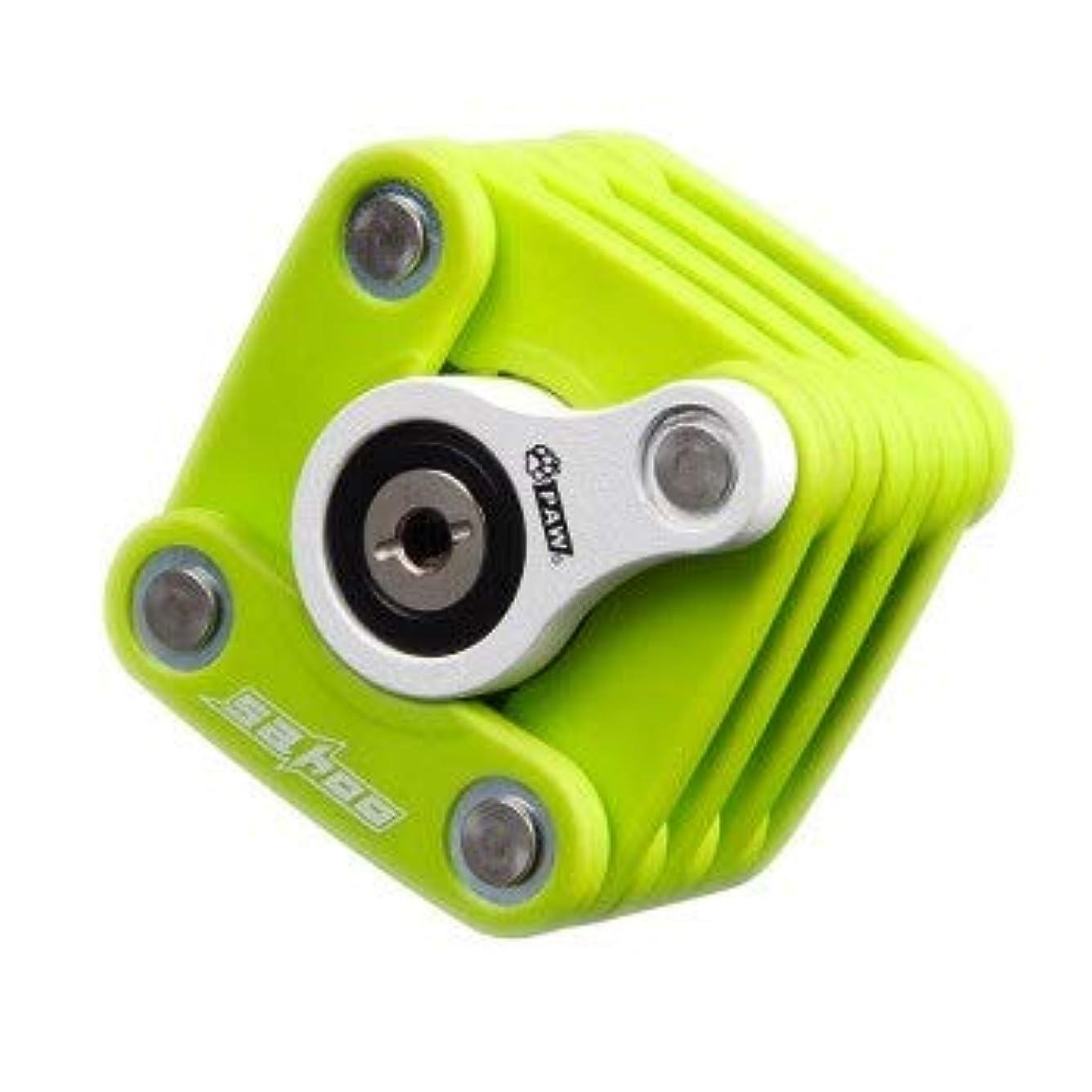 またねオークション無数のKEHUITONG 高い安全性を兼ね備えたスチールメタルと革新的なデザインのコンビネーションフォールディングバイクロック (Color : Green)