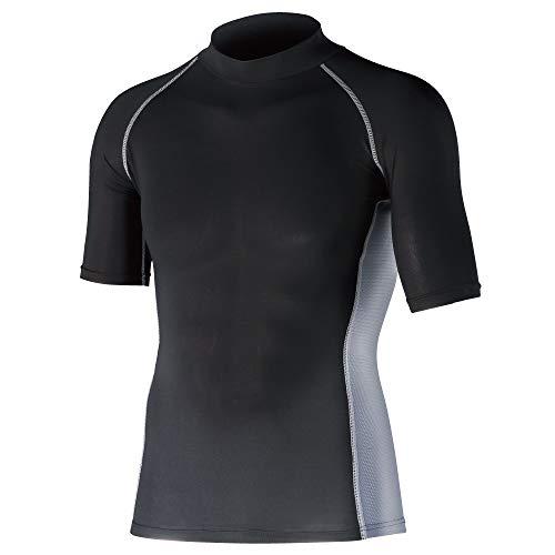 おたふく 冷感消臭パワーストレッチ半袖ハイネックシャツ JW624BKL_1087