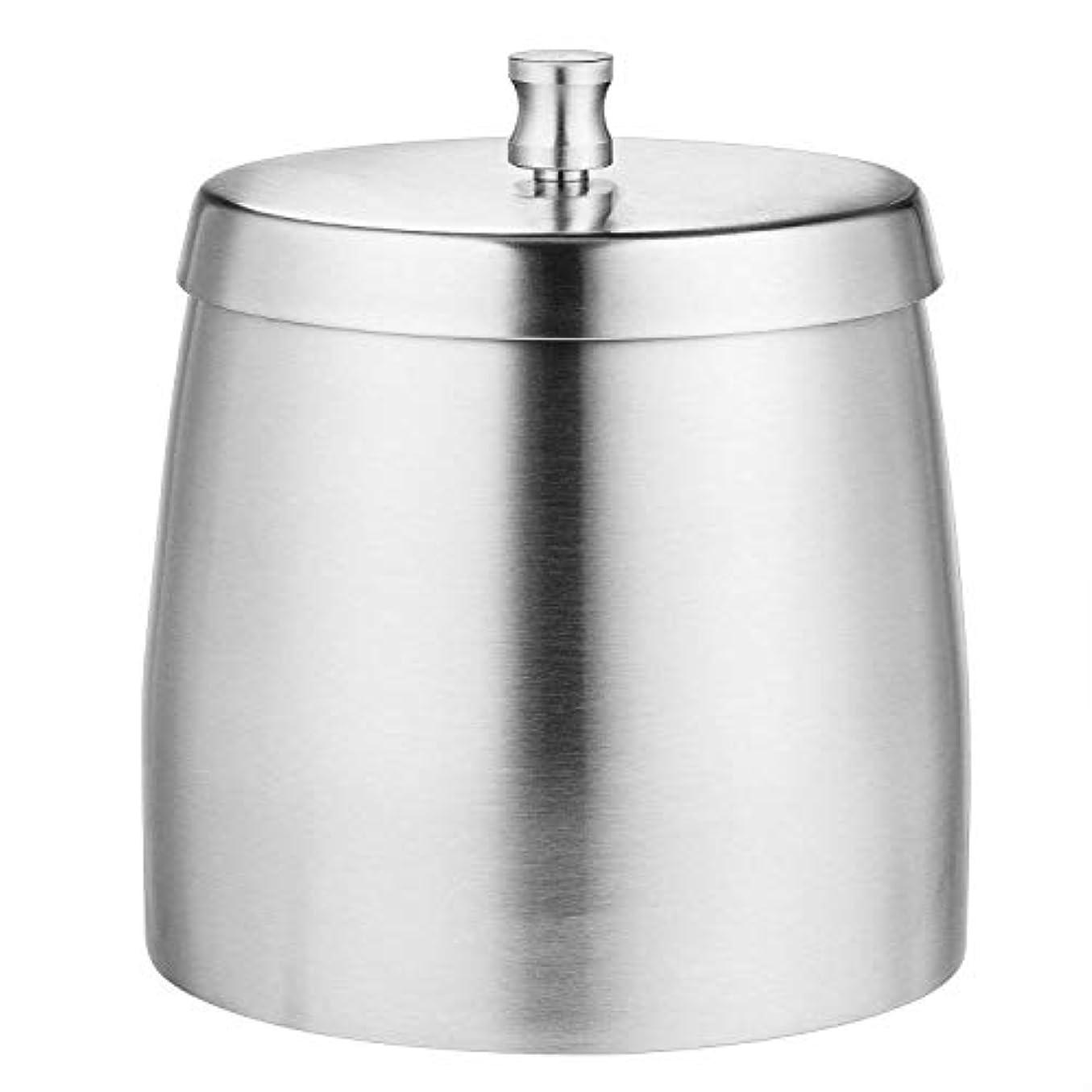 バング肉腫良さタバコのための蓋付き灰皿、屋内用防風/防雨ステンレススチールアンブレイカブル現代の灰皿や屋外での使用、シルバー