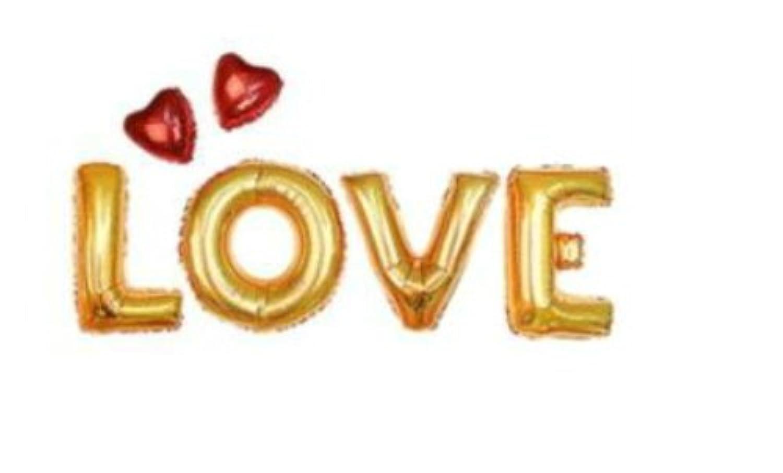 文字風船 【 LOVE 】 誕生会 装飾 二次会 ハロウィン パーティー 飾り