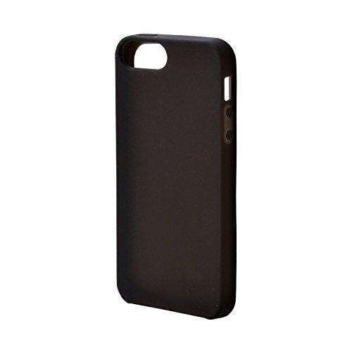 0e8842eaee エレコム iPhone SE/5/5s用シリコンケース ノーマル ブラック PM-A16SSCBK 1
