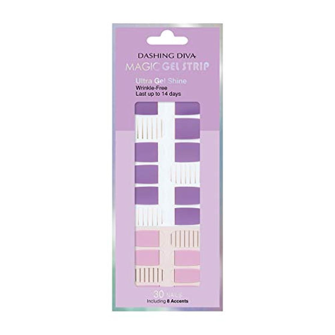 増加する個人的にフランクワースリーダッシングディバ マジックジェルストリップ DASHING DIVA Magic Gel Strip DGST83-DURY+ オリジナルジェル ネイルシール Purple Stripe