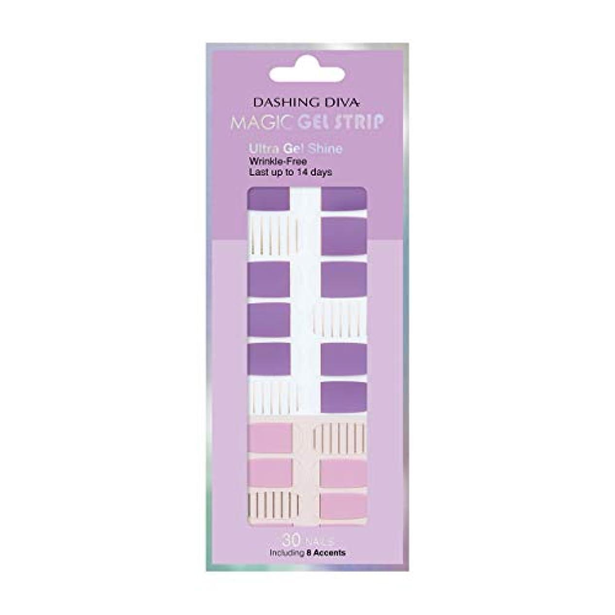 毛皮起きる天国ダッシングディバ マジックジェルストリップ DASHING DIVA Magic Gel Strip DGST83-DURY+ オリジナルジェル ネイルシール Purple Stripe