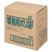 日本サニパック ポリゴミ袋 N-24 半透明 20L 10枚 60組 [簡易パッケージ品]