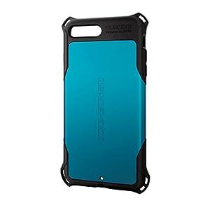 エレコム iPhone8 Plus ケース カバー 衝撃吸収 【 落下時の衝撃から本体を守る 】 ZEROSHOCK スタンダード 衝撃吸収 フィルム付 iPhone7 Plus対応 ブルー PM-A17LZEROBU